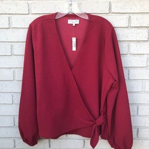 NWT Madewell Long Sleeved Wrap Top - Women's 2X